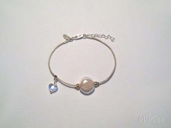 artistic-jewel-mi-miga-bracelet-leather-sterling-silver-gold-swarovski-heart-glass-  pearl-animal-pet-hair-dog-goku
