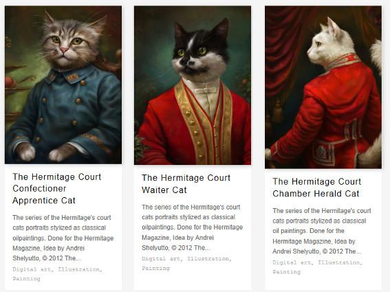 gatos-hermitage-retratados-como-sirvientes-de-corte-por-eldar-zakirov
