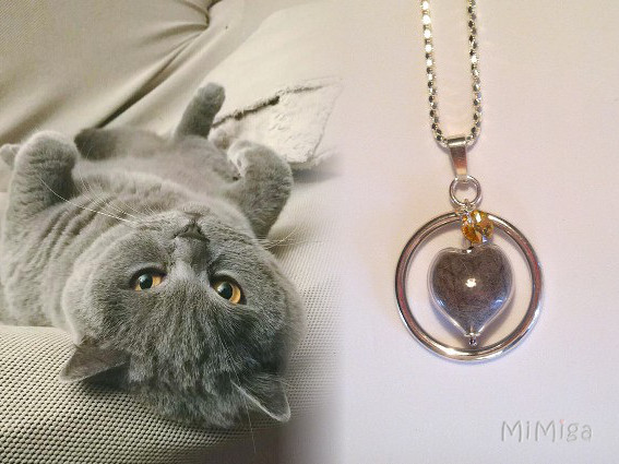 artistic-jewel-mi-miga-necklace-sterling-silver-circle-glass-heart-charm-swarovski-pet-animal-hair-cat-cash