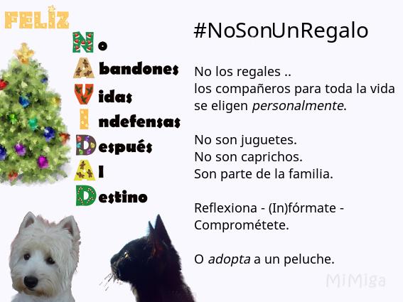 #No Adoptes (en Navidad) #NoSonUnRegalo