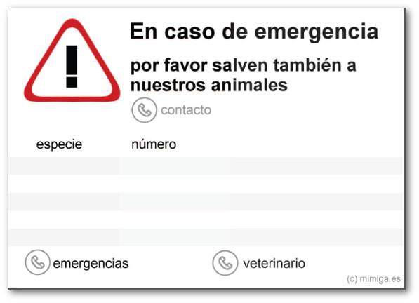 Aviso emergencia - cartel descargable