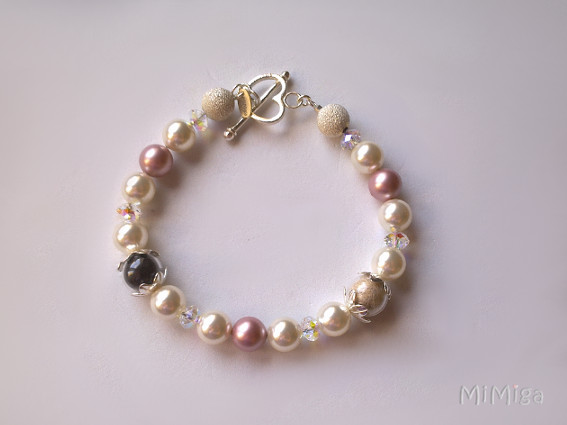 artistic-jewel-mi-miga-bracelet-bride-wedding-sterling-silver-pearls-crystals-swarovski-pet-hair-dog-lion-cat-goku