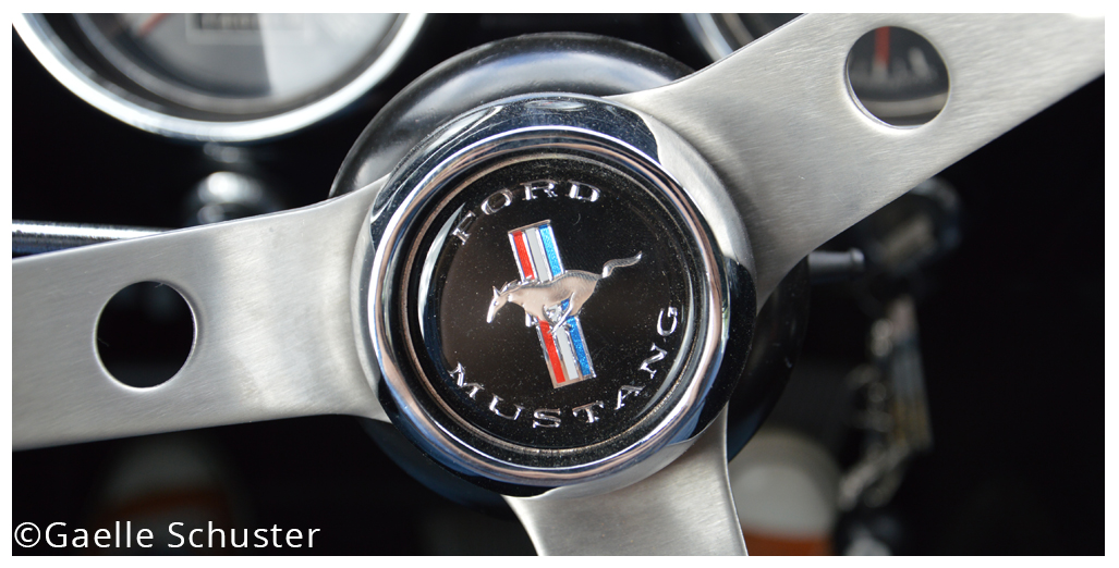Location Ford Mustang (vue5 - volant) pour une promenade-baptême en Normandie