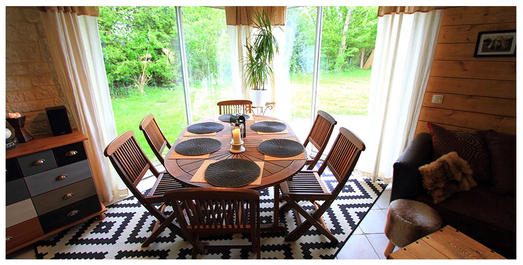 Gite Louisiane avec grand séjour-salle à manger pour 8 personnes en Normandie