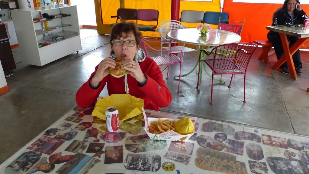 Notre premier hamburger !