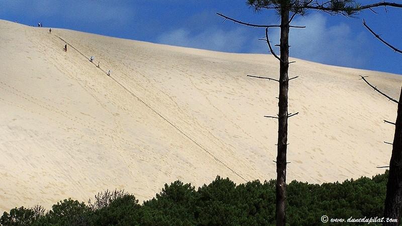 Blick auf die steile Ostflanke der Düne
