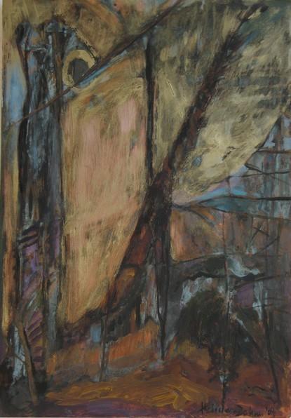 Im Wald, 2004, Öl, Gold, Grünspan, 33, 8 x 24