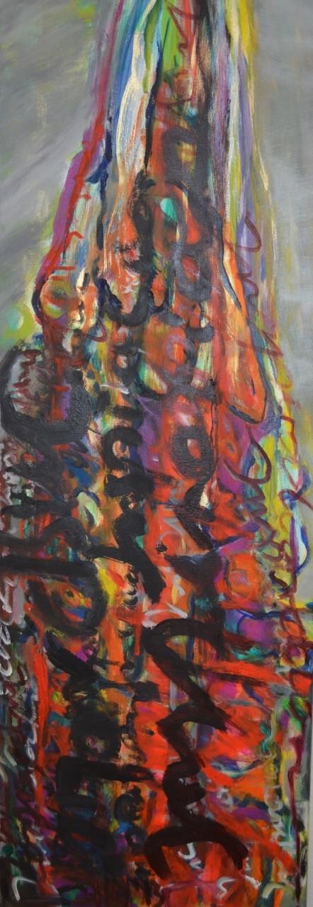 Inspiration, 2014, Öl auf Leinw., 120 x 40