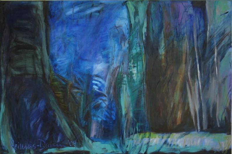 Sommernachtstraum, 2004, Öl auf Leinwand, 80 x 120