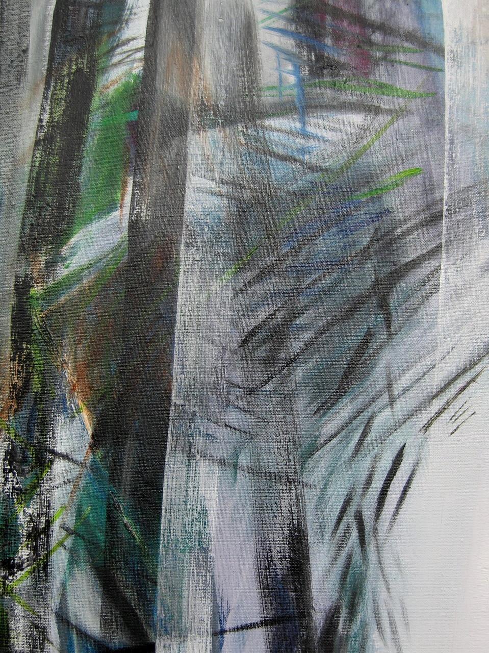 Schnee II, Öl auf Leinwand, 50 x 40