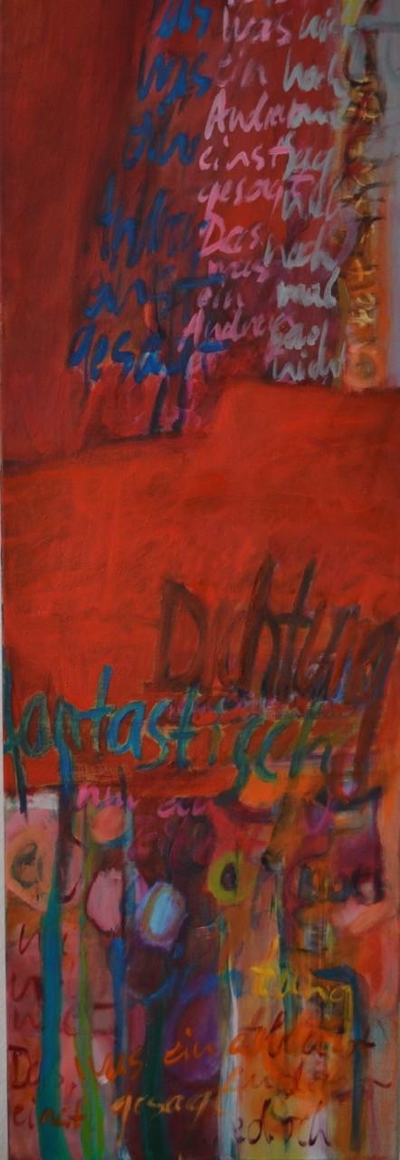 Vielleicht, 2014, Öl auf Leinwand, 120 x 40
