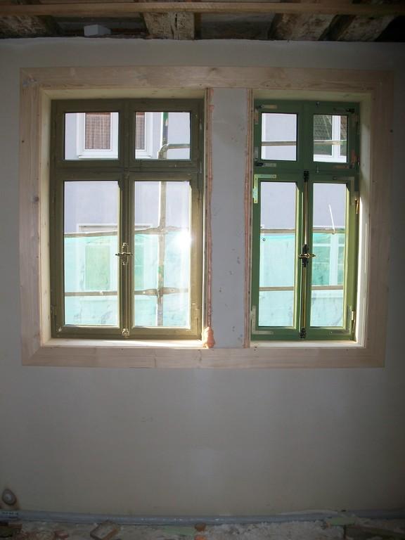 Im Küchenbereich im 1.OG entsteht ein zweites Fenster.