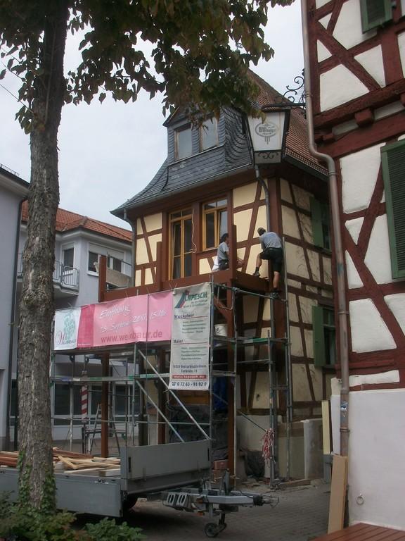 Die bisherige Altane wird ersetzt durch einen großzügigeren Balkon.