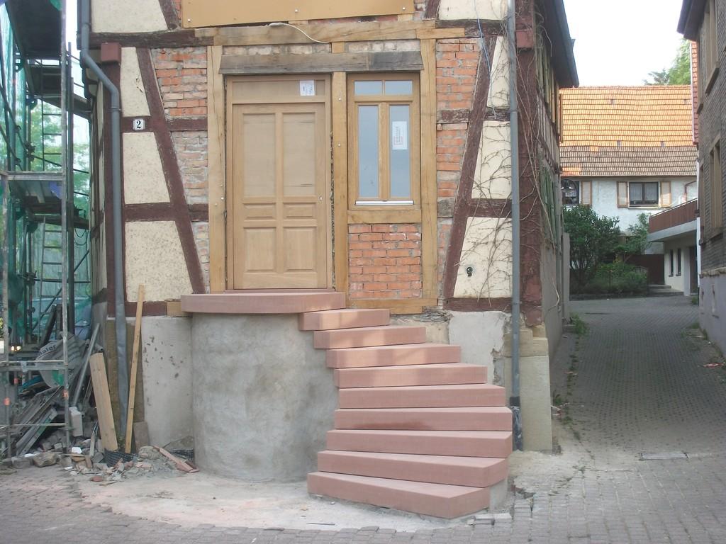 ...und fertig ist der schwungvolle Eingang ins Gerberhaus.