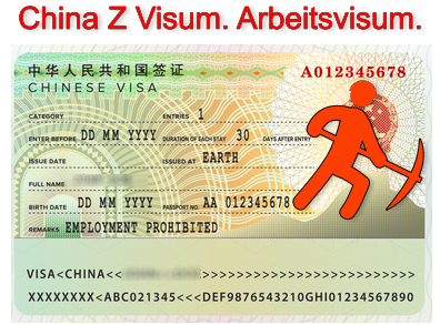 China Arbeitsvisa, Z Visa