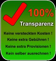 Hundert Prozent Transparenz