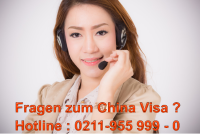 China Visa Hotline Telefon 0211-9559990