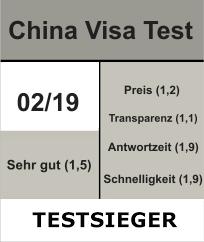 China Visa Service Testsieger