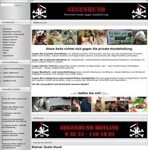 Petition gegen GEGENHUND.ORG - klick mich...