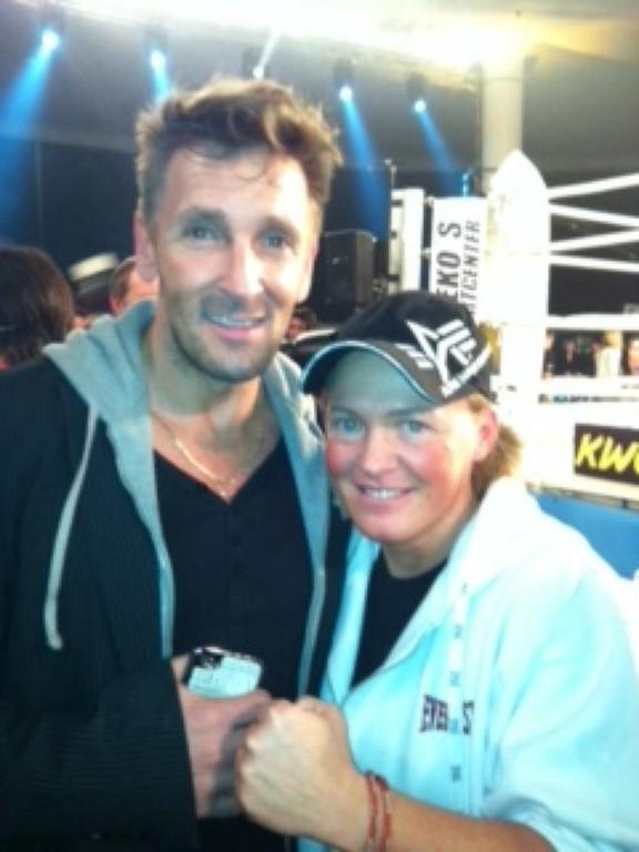 Tina mit Schauspieler Mark Keller