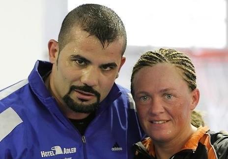 Tina mit Trainer Sedat Kececi