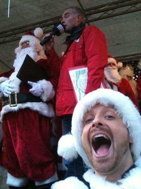 ob groß ob klein - auch unser Ross hat Freude beim Santa Simon