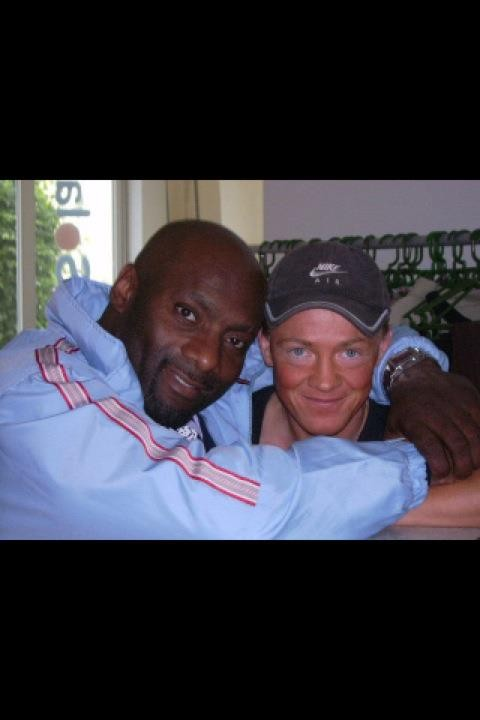 Tina mit mit Bodybuilding Profi Ernie Taylor