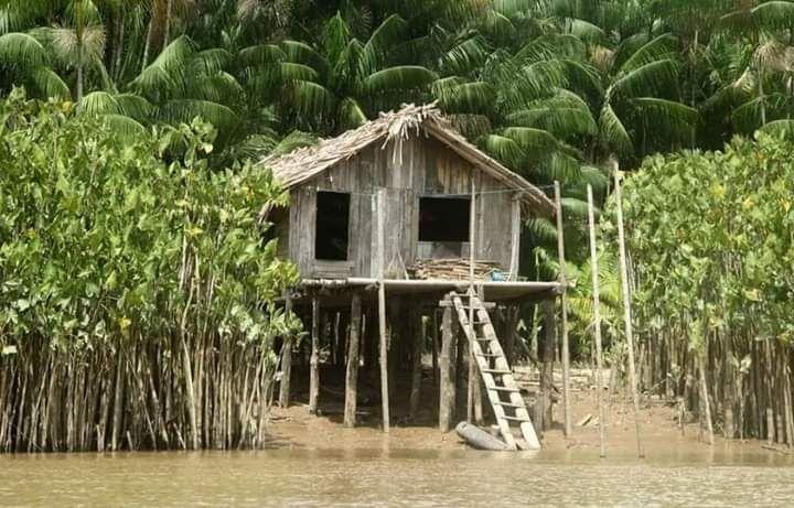 Häuser am Fluß