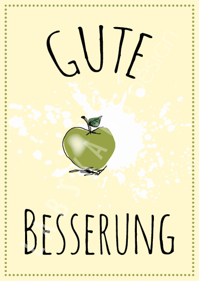 Gute Besserung Apfel PK 0100