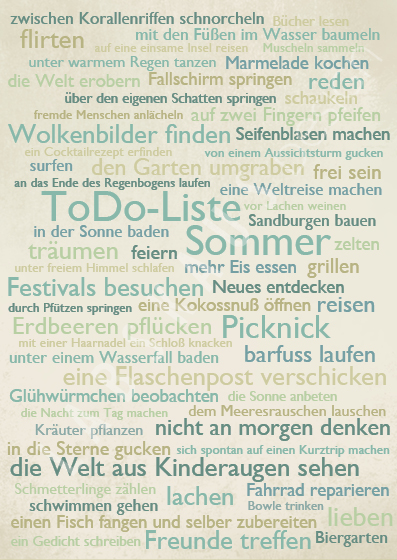 To Do Sommer T 0031