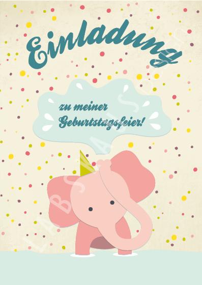 Einladung Elefant PK 0112