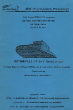 <-- Retrievals of the Third Kind: A case study of alleged UFOs and occupants in military custody in seguito il lavoro è stato chiamato Status Report I