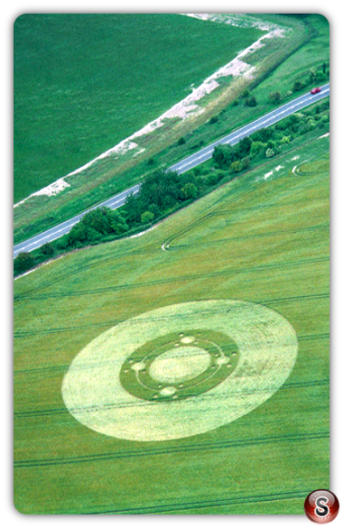 Crop circles - Telegraph Hill (nr Winchester) Hampshire 1995