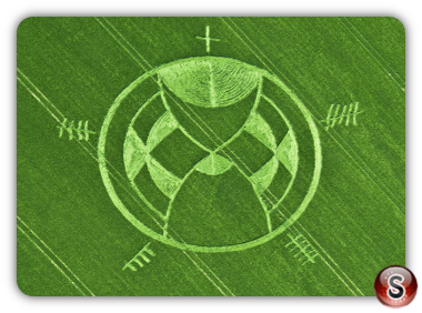 Crop circles - Silbury Hill Wiltshire UK. 2013