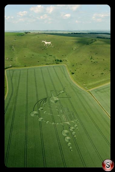 Crop circles - Alton Barnes, White Horse, Wiltshire 2009