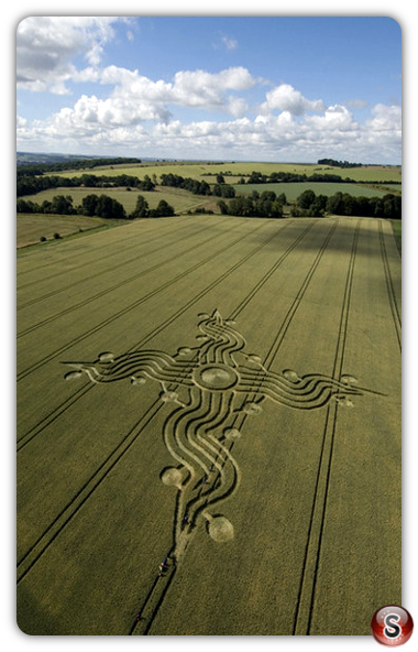 Crop circles - West Woods (nr Lockeridge) Wiltshire 2008