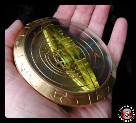 Disco d'oro con dispositivi meccanici