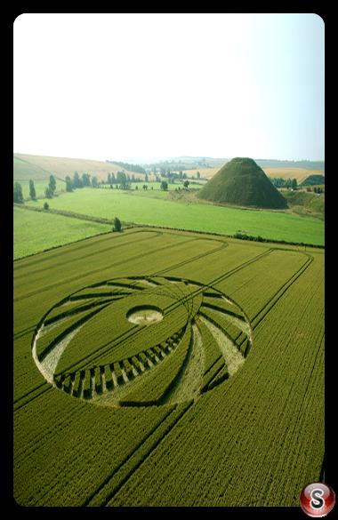 Crop circles - Silbury Hill Wiltshire 2005