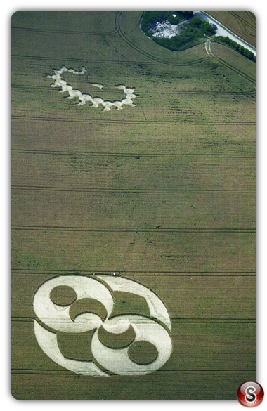Crop circles - Liddington Castle, Wiltshire 1996
