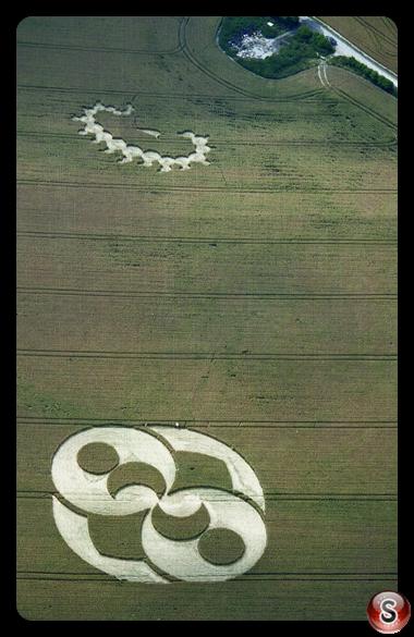 Crop circles - Liddington Castle Wiltshire 1996