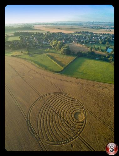 Crop circles - Woodway Bridge Wiltshire 2016