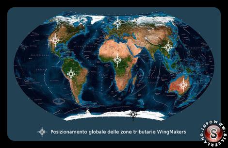 Posizionamento globale delle zone tributarie Wingmakers