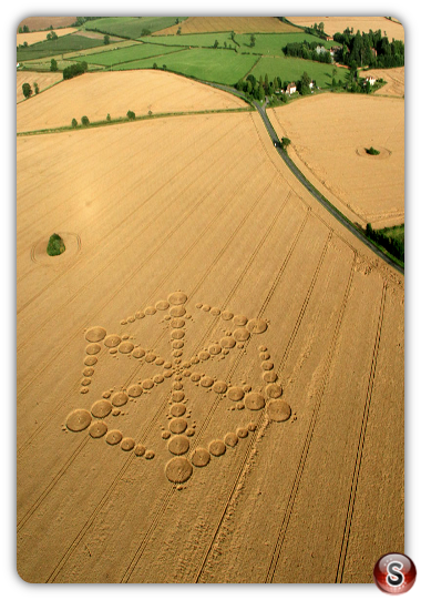 Crop circles - Wappenbury nr Royal Leamington Spa Warwickshire 2012