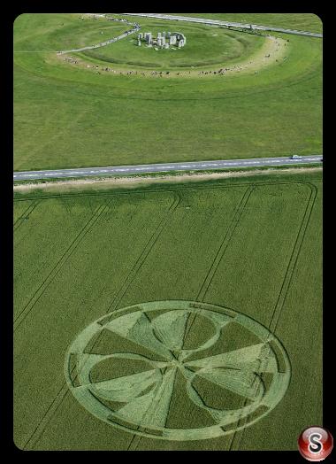 Crop circles - Stonehenge nr Amesbury Wiltshire 2011