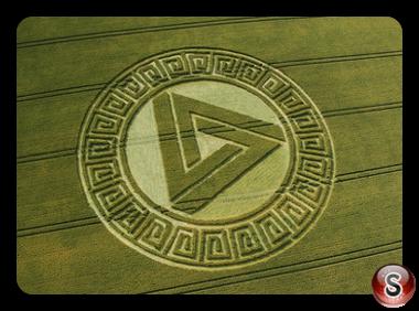 Crop circles - Waden Hill, Avebury, Wiltshire 2005