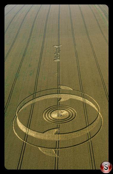 Crop circles - East Field Wiltshire 2002