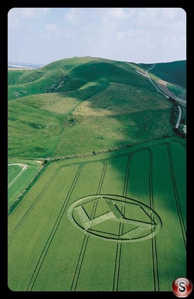 Crop circles - Allington Down Wiltshire 1999