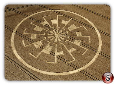 Crop circles Marlborough Downs, Wiltshire, UK. 2011