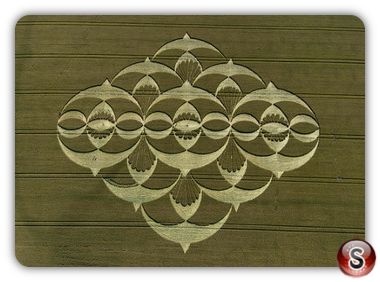 Crop circles - Southfield, Alton Priors, Wiltshire 2008