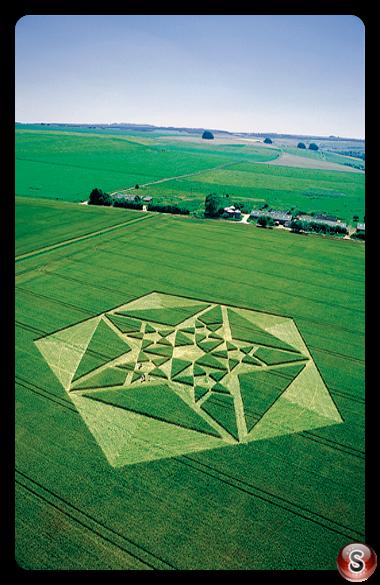 Crop circles - Avebury, Green Street, Wiltshire 2003